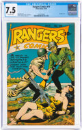 Golden Age (1938-1955):War, Rangers Comics #19 (Fiction House, 1944) CGC VF- 7.5 Off-white pages....