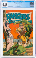 Golden Age (1938-1955):War, Rangers Comics #17 (Fiction House, 1944) CGC FN+ 6.5 Off-white pages....