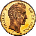 France, France: Charles X gold Proof Essai 100 Francs ND (1824)-A PR64 Ultra Cameo NGC,...