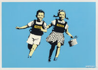 Banksy (b. 1974) Jack and Jill (Police Kids), 2005 Screenprint in colors on wove paper 19-3/4 x 2