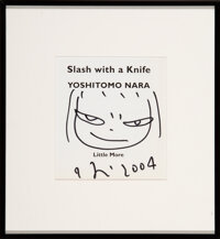 Yoshitomo Nara (b. 1959) Untitled Drawing from Slash with a Knife, 2004 Marker on paper a
