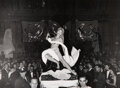 Photographs, Weegee (American, 1899-1968). Leda and the Swan, Art Students League Ball, circa 1950. Gelatin silver. 7-1/2 x 10 inches...