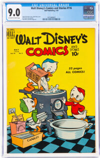 Walt Disney's Comics and Stories #116 (Dell, 1950) CGC VF/NM 9.0 Off-white to white pages