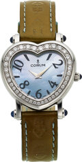 "Timepieces:Wristwatch, Corum, ""Heartbeat"" Blue Mother-Of-Pearl Dial, Diamond Wristwatch. ..."