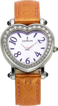 "Timepieces:Wristwatch, Corum, ""Heartbeat"" Diamond & Steel Lady's Wristwatch"