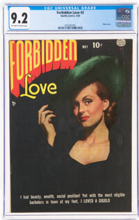 Forbidden Love #2 (Quality, 1950) CGC NM- 9.2 Off-white to white pages