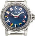 """Timepieces:Wristwatch, Corum, Lady's Steel & Diamond """"Admiral's Cup"""" ..."""