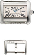 Timepieces:Wristwatch, Cartier, Ref. 2599 Steel Mini Tank Divan Ca...
