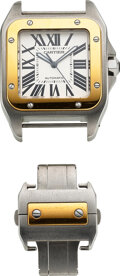 Timepieces:Wristwatch, Cartier, Steel & Gold Santos 100, Ref. 2656