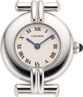 "Timepieces:Wristwatch, Cartier, 18k White Gold ""Rivoli"" Lady's Wristwatch, Ref. 1981. ..."