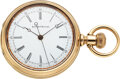 "Timepieces:Pocket (pre 1900) , Elgin, Rare ""Doctor's Watch"", Heavy 14k Gold Case, circa 1..."
