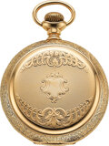 Timepieces:Pocket (post 1900), Illinois, 14k Gold 18 Size 21 Jewel Two Tone Bunn Special,...