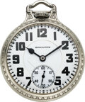 Timepieces:Pocket (post 1900), Hamilton, 23 Jewel Grade 950 Railroad Pocket Watch, circa ...
