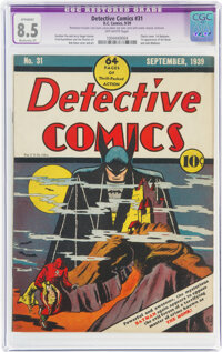 Detective Comics #31 (DC, 1939) CGC Apparent VF+ 8.5 Moderate (P) Off-white pages