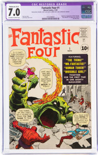 Fantastic Four #1 (Marvel, 1961) CGC Apparent FN/VF 7.0 Moderate (A-3) Off-white to white pages