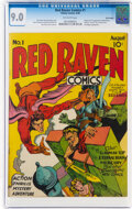 Golden Age (1938-1955):Superhero, Red Raven Comics #1 Billy Wright Pedigree (Timely, 1940) CGC VF/NM 9.0 Off-white pages....