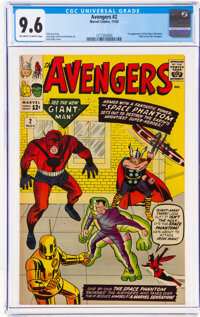 The Avengers #2 (Marvel, 1963) CGC NM+ 9.6 Off-white to white pages
