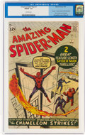 Silver Age (1956-1969):Superhero, The Amazing Spider-Man #1 (Marvel, 1963) CGC FN/VF 7.0 Off-white pages....