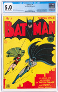 Golden Age (1938-1955):Superhero, Batman #1 (DC, 1940) CGC VG/FN 5.0 Off-white to white pages....