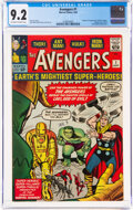 Silver Age (1956-1969):Superhero, The Avengers #1 (Marvel, 1963) CGC NM- 9.2 Off-white to white pages....