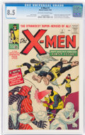 Silver Age (1956-1969):Superhero, X-Men #1 (Marvel, 1963) CGC VF+ 8.5 Off-white to white pages....