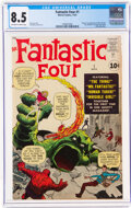 Silver Age (1956-1969):Superhero, Fantastic Four #1 (Marvel, 1961) CGC VF+ 8.5 Off-white to white pages....