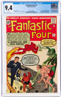 Silver Age (1956-1969):Superhero, Fantastic Four #6 (Marvel, 1962) CGC NM 9.4 White pages....