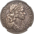 "Great Britain, Great Britain: Charles II silver Pattern ""Petition"" Crown 1663 XF40 NGC,..."