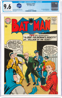Batman #157 (DC, 1963) CGC NM+ 9.6 Off-white to white pages