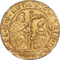 Italy, Italy: Venice. Ludovico Manin gold 1/2 Ducato of 5 Zecchini (1789-1797)-AB UNC Details (Plugged) NGC,...