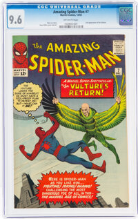 The Amazing Spider-Man #7 (Marvel, 1963) CGC NM+ 9.6 Off-white pages