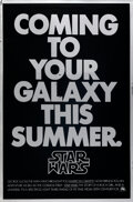 "Movie Posters:Science Fiction, Star Wars (20th Century Fox, 1977). Rolled, Very Fine-. Mylar One Sheet (27"" X 41"") Advance.. ..."