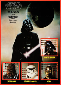 "Star Wars: Don Post Studios Masks (Don Post, 1977). Rolled, Near Mint-. Advertising Poster (18"" X 25"")"
