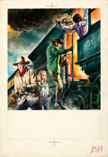Movie Posters:Western, The Train Robbers by Renato Casaro (Warner Brothers, 1973). Very Fine. Signed Original Mixed Media Poster Artwork on Illustr...