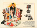 "Movie Posters:James Bond, Live and Let Die (United Artists, 1973). Very Fine- on Linen. British Quad (30"" X 40"") Robert McGinnis Artwork.. ..."