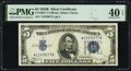 Small Size:Silver Certificates, Fr. 1652* $5 1934B Silver Certificate Star. PMG Extremely Fine 40 EPQ.. ...