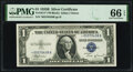 Small Size:Silver Certificates, Fr. 1611* $1 1935B Silver Certificate Star. PMG Gem Uncirculated 66 EPQ.. ...