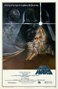 "Movie Posters:Science Fiction, Star Wars (20th Century Fox, 1977). Rolled, Near Mint-. First Printing One Sheet (27"" X 41"") Style A with Ratings Box, Tom J..."