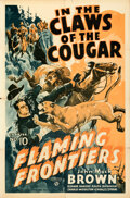 """Movie Posters:Serial, Flaming Frontiers (Universal, 1938). Folded, Fine/Very Fine. One Sheet (27"""" X 41"""") Chapter 10 --""""In the Claws of the Cougar...."""