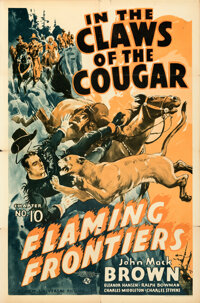 """Flaming Frontiers (Universal, 1938). Folded, Fine/Very Fine. One Sheet (27"""" X 41"""") Chapter 10 --""""In the C..."""