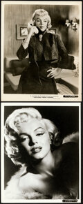 """Movie Posters:Miscellaneous, Marilyn Monroe by Frank Powolny & Other Lot (20th Century Fox, 1953). Very Fine. Photos (2) (8"""" X 10"""") .. ... (Total: 2 Items)"""