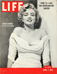 """Marilyn Monroe Life Magazine (Life Magazine, 1952). Rolled, Fine. Point of Purchase Poster (27.25"""" X 35.5"""") Ph..."""