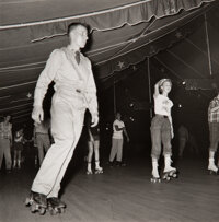 Berenice Abbott (American, 1898-1991) Rollerskating Under a Tent, Georgia, 1954 Gelatin silver 7-1/2 x 7-3/8 inches (