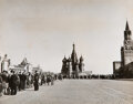 Photographs, Robert Capa (American, 1913-1954). Visitors in Line at Lenin's Tomb, Moscow, 1947. Gelatin silver. 7-3/4 x 9-3/4 inches ...