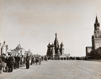 Robert Capa (American, 1913-1954) Visitors in Line at Lenin's Tomb, Moscow, 1947 Gelatin silver 7
