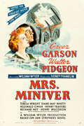 """Movie Posters:Academy Award Winners, Mrs. Miniver (MGM, 1942). Very Fine- on Linen. One Sheet (27"""" X 41"""") Style D.. ..."""