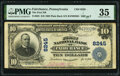 National Bank Notes:Pennsylvania, Fairchance, PA - $10 1902 Plain Back Fr. 625 The First National Bank Ch. # 8245 PMG Choice Very Fine 35.. ...