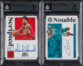 Basketball Cards:Lots, 2019-20 Panini Encased Cody Martin & Admiral Schofield Autograph BGS Graded Pair (2)....