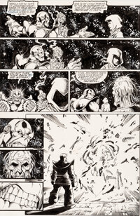 George Perez, Joe Rubinstein, and Tom Christopher The Infinity Gauntlet #1 Story Page 26 Original Art (Marvel, 199