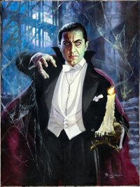 "Dracula by Basil Gogos (2002). Mint. Signed Original Acrylic Artwork on Canvas (30"" X 40"")"